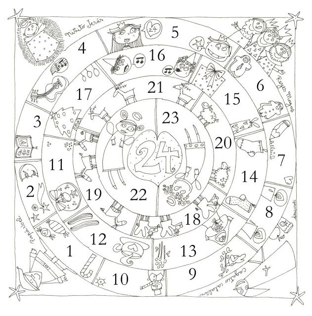 ADVIENTO Y NAVIDAD: Mandala de Navidad | Dibujante | Pinterest ...