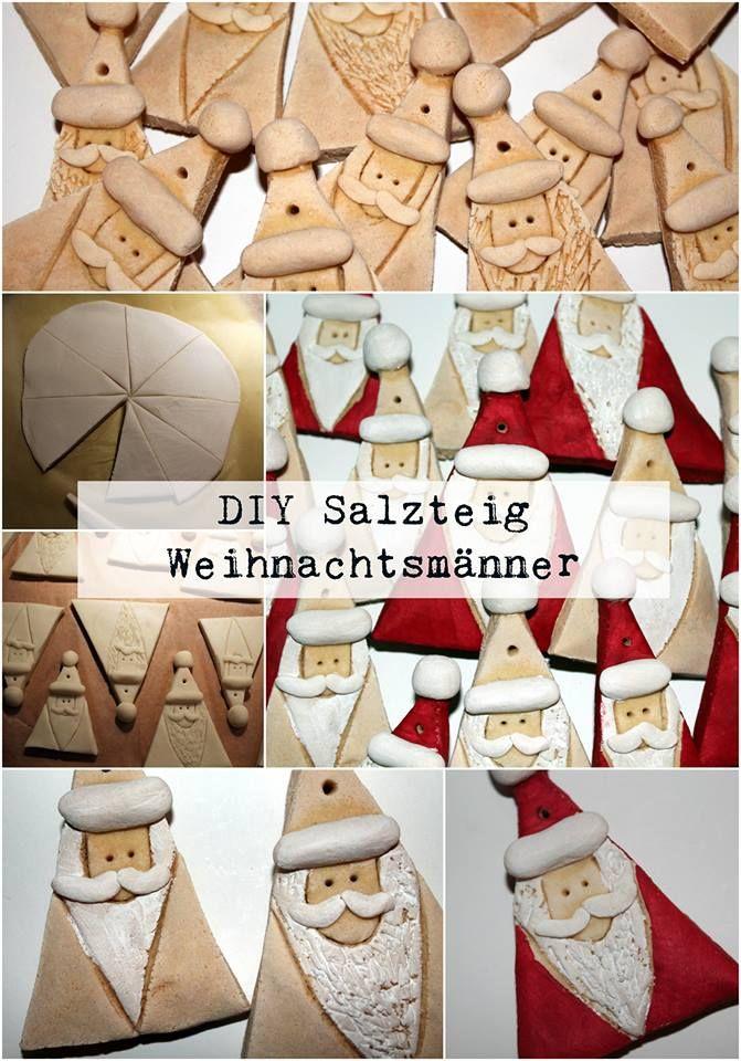 Diy Salzteig Weihnachtsmanner Blondie S Concrete Pinterest
