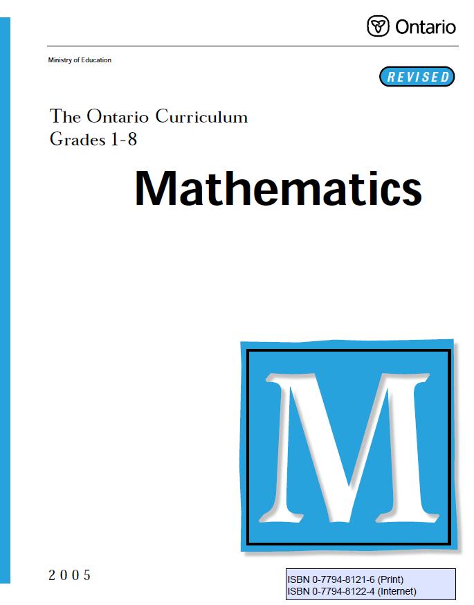 Http Www Edu Gov On Ca Eng Curriculum Elementary Math Html Elementary Resources Ontario Curriculum Math Curriculum