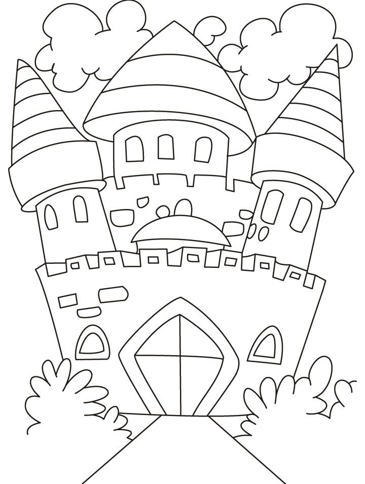 A beautiful castle coloring pages | coloring pages | Pinterest ...