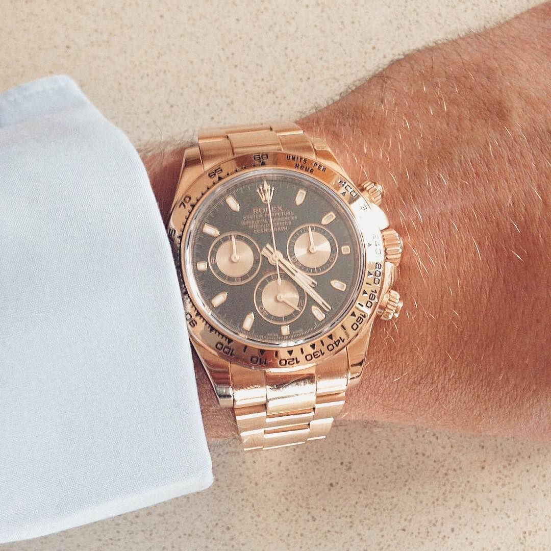 One of our most popular pieces the Rose Gold Rolex Daytona