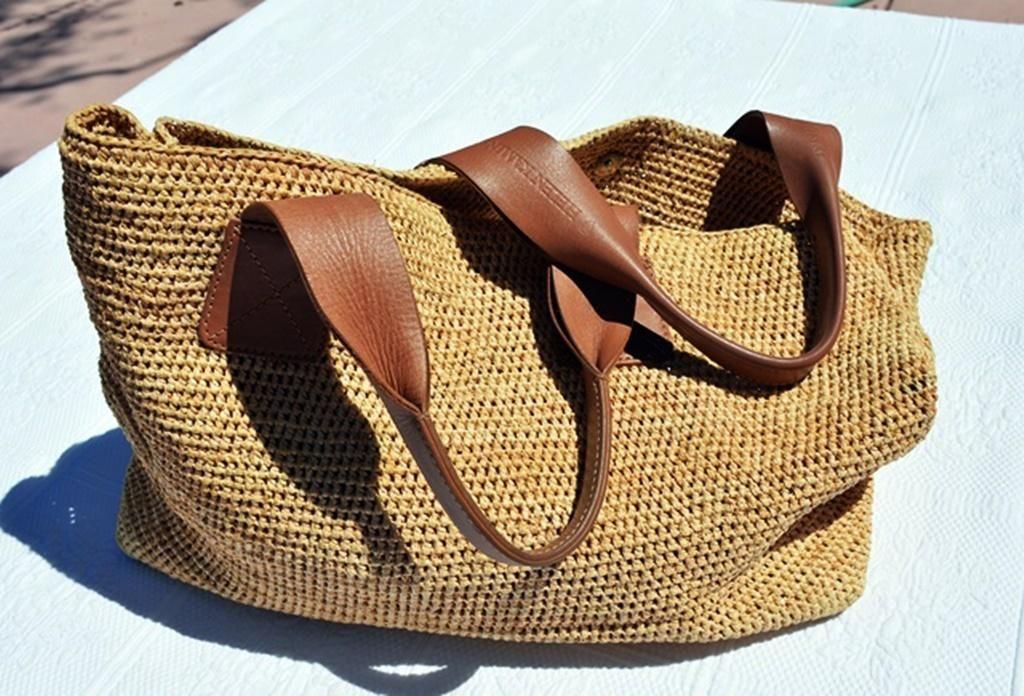 Vintage Helen Kaminski Straw Bag With Soft Leather Handles Bags Australia Straw Bag Bags