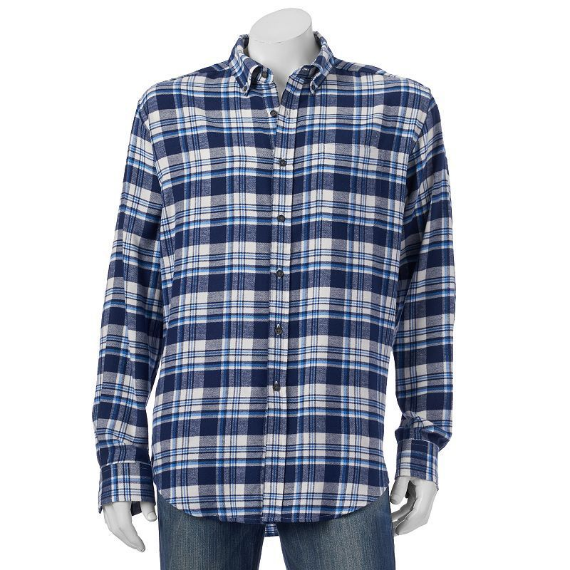 ba5a615e9bc Men s Croft   Barrow® Classic-Fit Plaid Flannel Button-Down Shirt ...