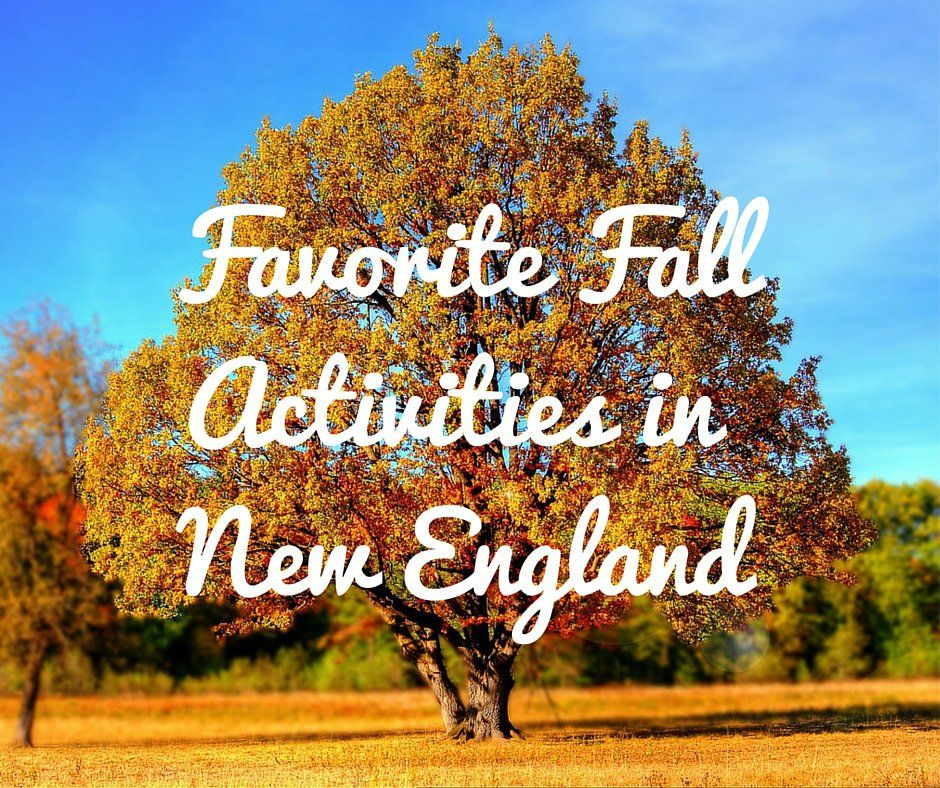 fall activities new england