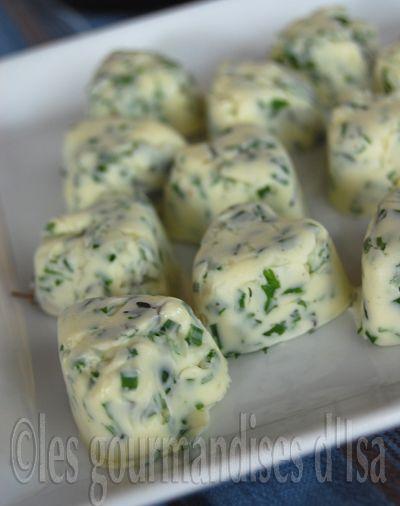 Mini portions beurre aux herbes (à congeler ou réfrigérer)