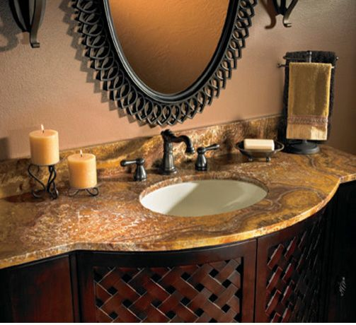 An onyx countertop can provide an exquisite and unexpected surprise