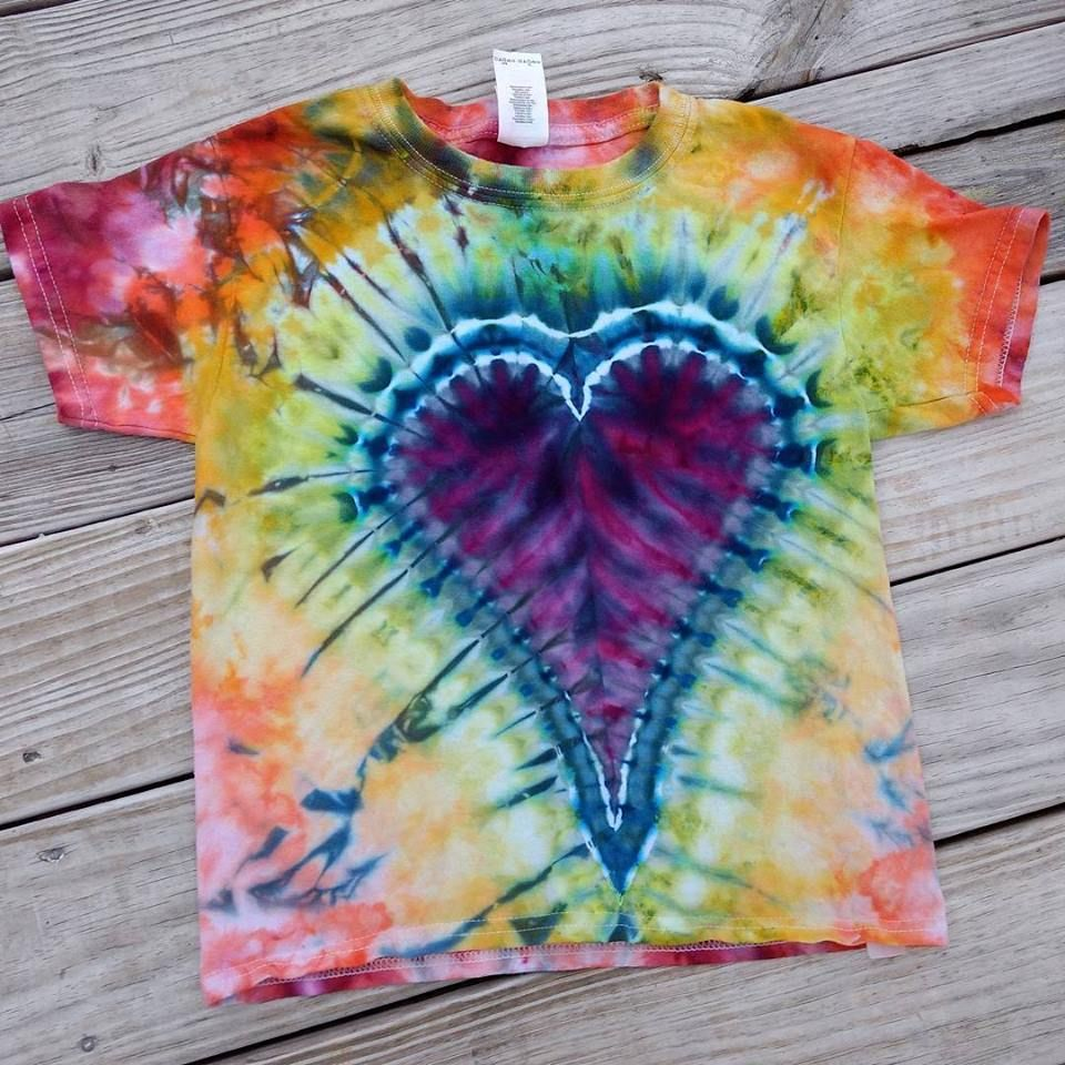 Youth Xs 4 5 I Give You My Heart Tie Dye T Shirt Ice Dye