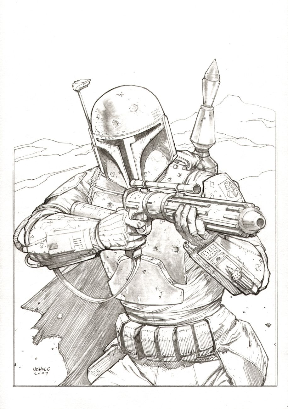 boba fett commissionflowcoma  star wars drawings