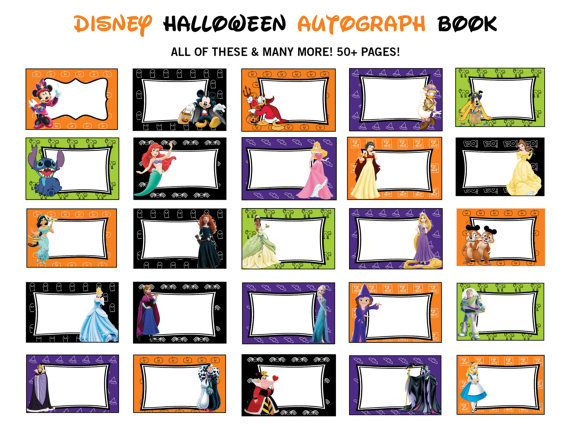 It's just a picture of Printable Disney Autograph Book intended for walt disney