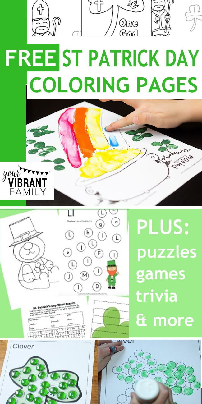 22 Free St Patrick Day Coloring Pages & Printables | Pinterest ...