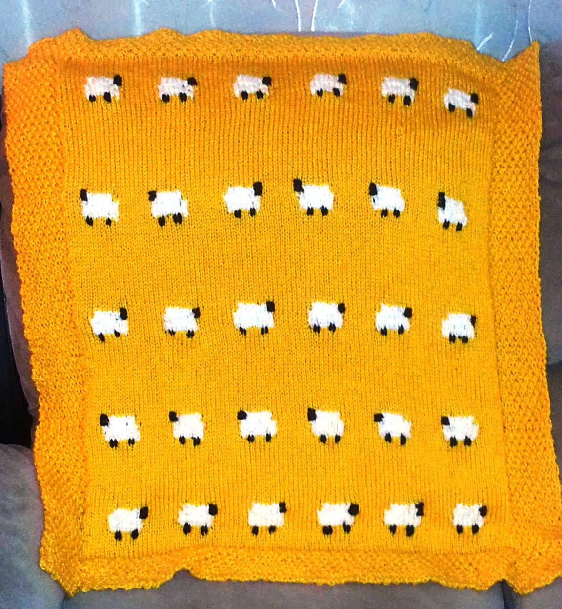 Knitting Pattern For Sheep Blanket : Knitted Baby Blanket Free Knitting Patterns Let S Knit ...