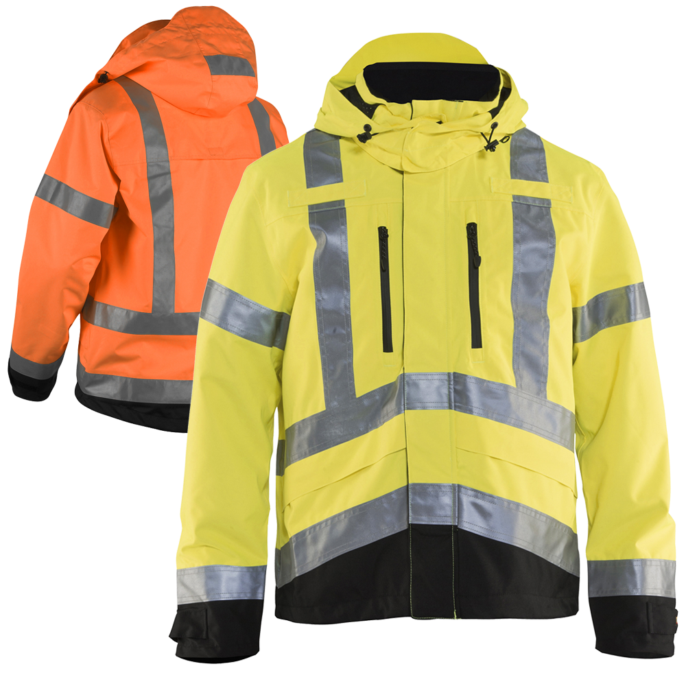 Blaklader 4937 Class 3 Hi Vis Rain Jacket Rain Jacket Women Raincoats For Women Rain Jacket