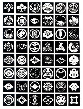 Kamon designs | Symbols | Japanese graphic design, Japanese design
