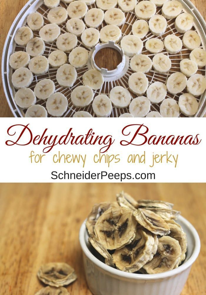 How to Dehydrate Bananas to Make Chewy Banana Chips or