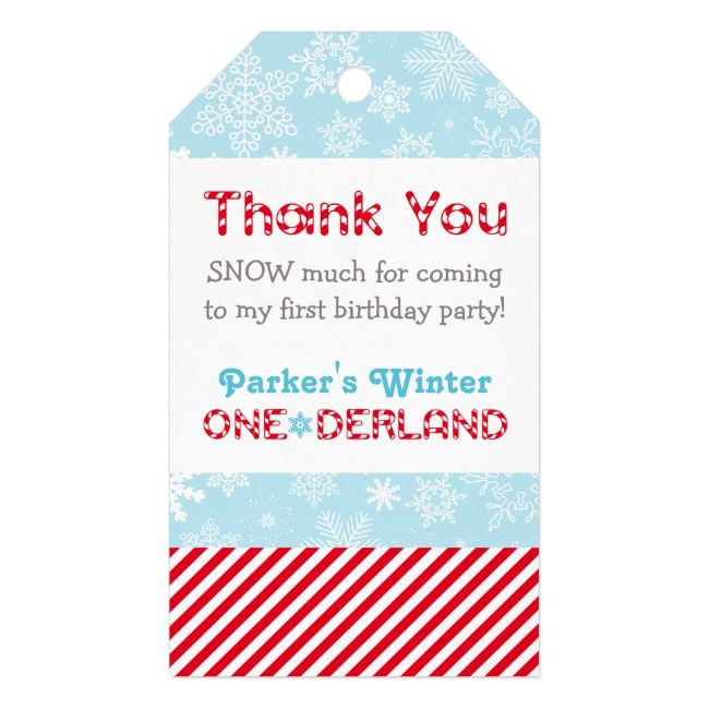 Photo of Winter ONEderland Party | First Birthday Thank You Gift Tags | Zazzle.com