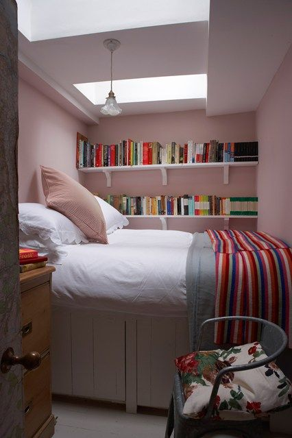 This Tiny Bedroom Is Painted In Pink Farrow Ball Paint Explore Our Small Spaces Including Small Room Decorating Design Ideas