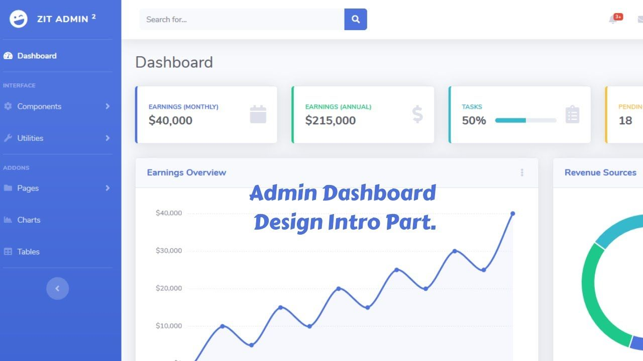Web Design Beginners Tutorial 2020 Bangla Admin Dashboard