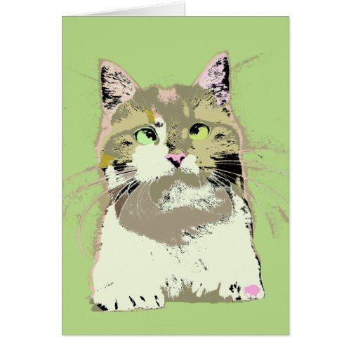 Pop Art Kitten Card
