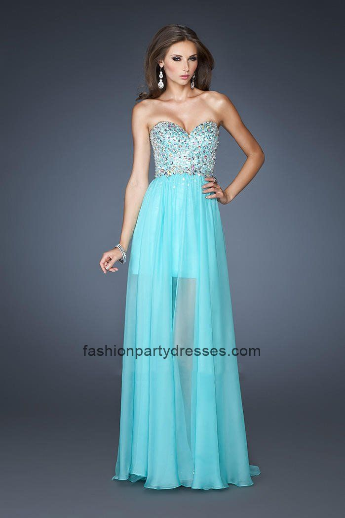 La Femme 19056 Unique Jade Beaded Top High-Low Homecoming Gown