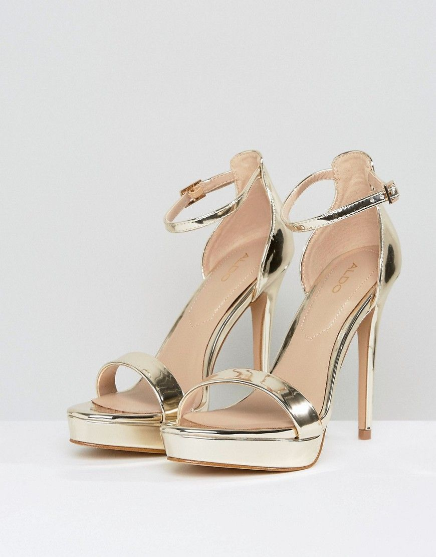 80951dbc647 ALDO Madalene Platform Heeled Sandals - Gold