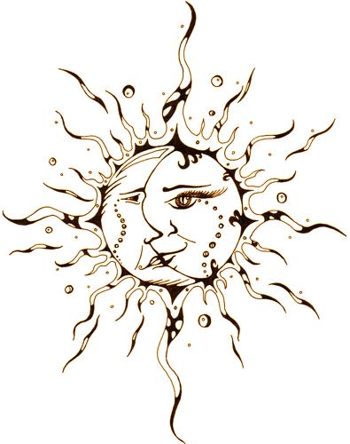 Moon Flower Moon Sun Tattoo Moon Tattoo Sun Tattoos