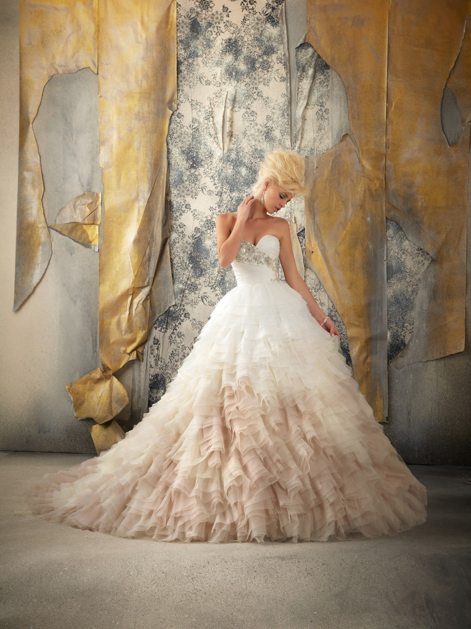 There is something about this that I like... Ombre wedding dress! Mori Lee Wedding Dresses - Style 1924