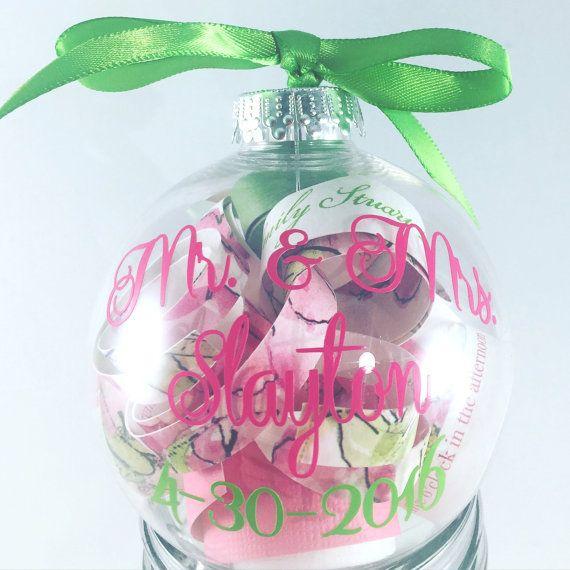 Personalized Wedding Invitation Christmas Tree Ornament Keepsake, Wedding Gift, Memento ...