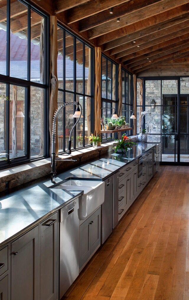 Cuisine style montagne | House Ideas | Pinterest | House
