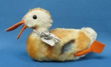 Vintage 1960's Steiff Mohair Duck with working squeaker