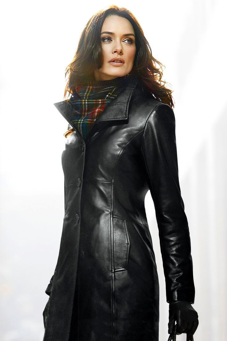leather sexy coats long
