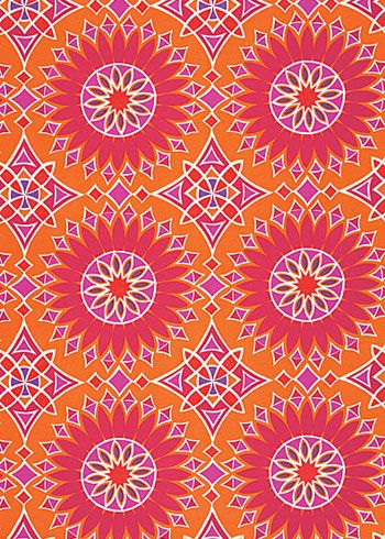 Trina Turk Fabric By The Yard Soleil La Print Sunset 108 Per Can Use Indoor Outdoor Pillows Or Seat Cushions