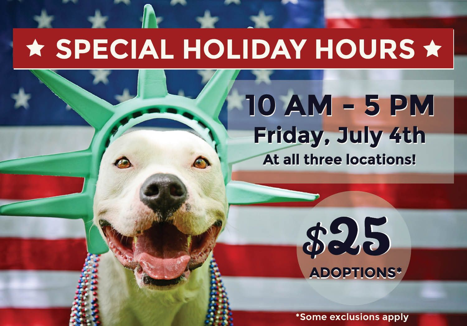 Now thru July 6th!! 25 adoptions at KC Pet Project! Some