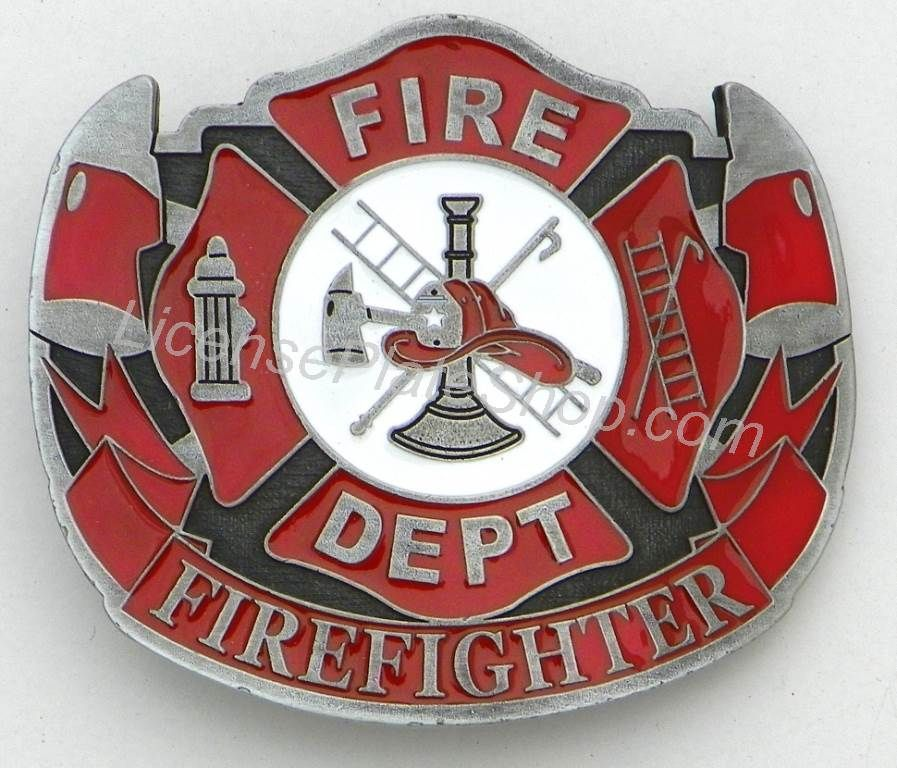 Fire Fighter, Fire Dept. Belt Buckle, Emblem, Logo