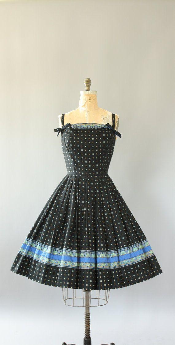 b127447fd85 Vintage 50s Dress  1950s Cotton Dress  Alix by WhenDecadesCollide ...
