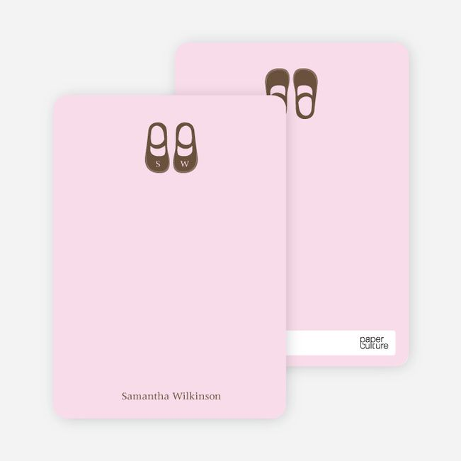 Personal+Stationery+for+Girls'+Shoes+Modern+Baby+Announcement
