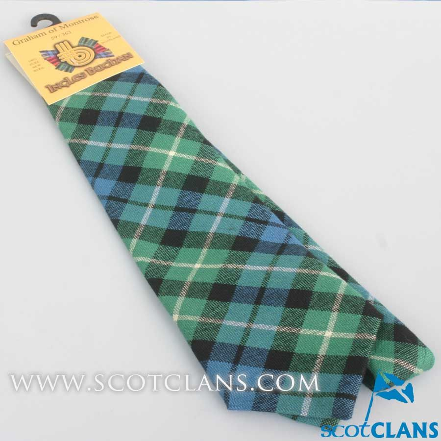 Mens Tie All Wool Made in Scotland Graham of Montrose Ancient Tartan