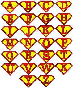 personalised initial letter superman iron on transfer clipart best rh pinterest com create superman logo with different letters superman logo with other letters