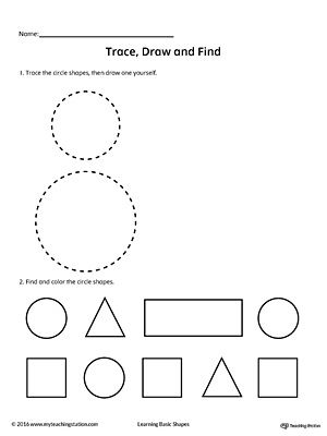 Trace Draw And Find Circle Shape Shapes Worksheets Circle Shape Shapes For Kids Circle shape worksheets for preschool