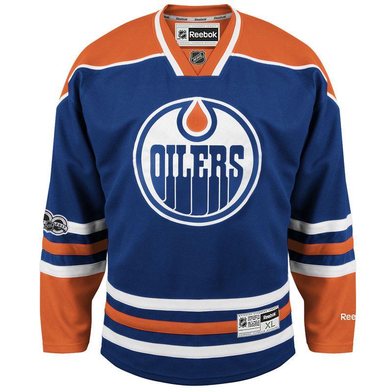 d2ee18884 Edmonton Oilers Fanatics Branded Centennial Patch Home Premier Jersey -  Royal