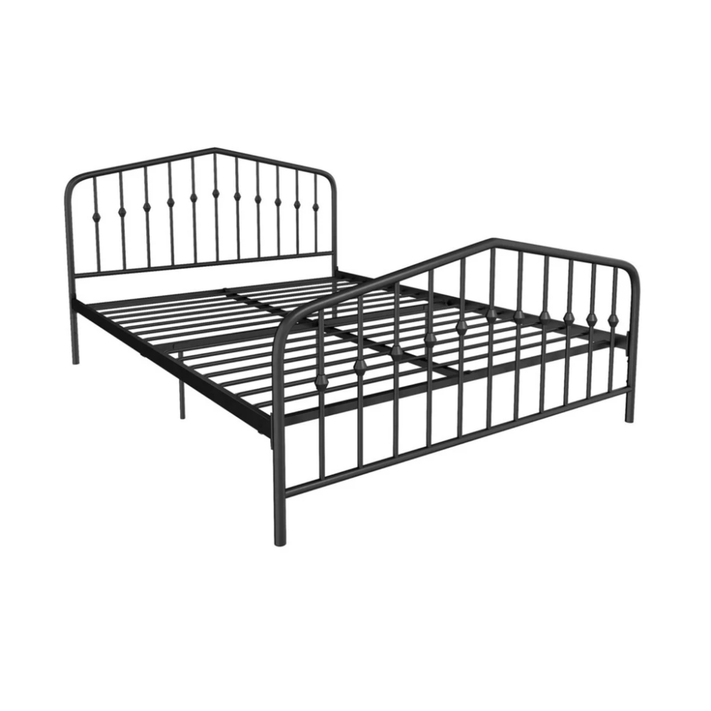 Bushwick Bed Metal beds, Black bedding, Headboard, footboard