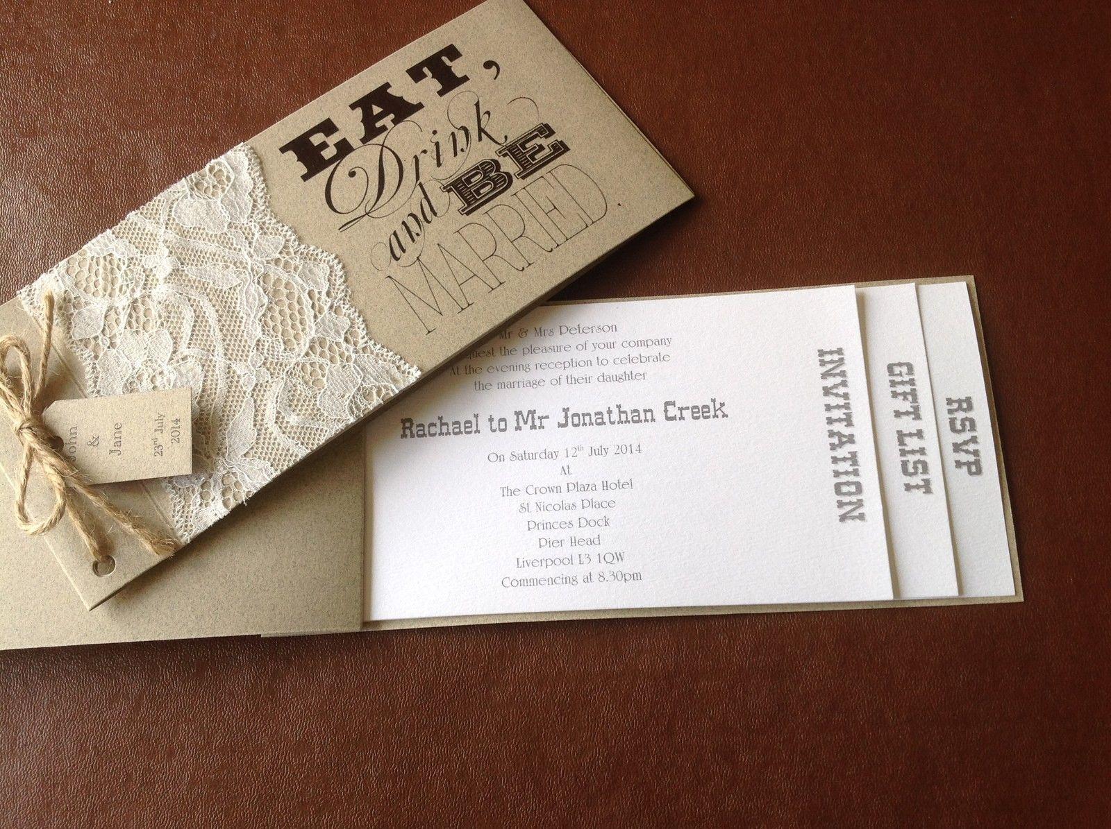 Shabby chic cheque book wedding invitation | Cheque book wedding ...