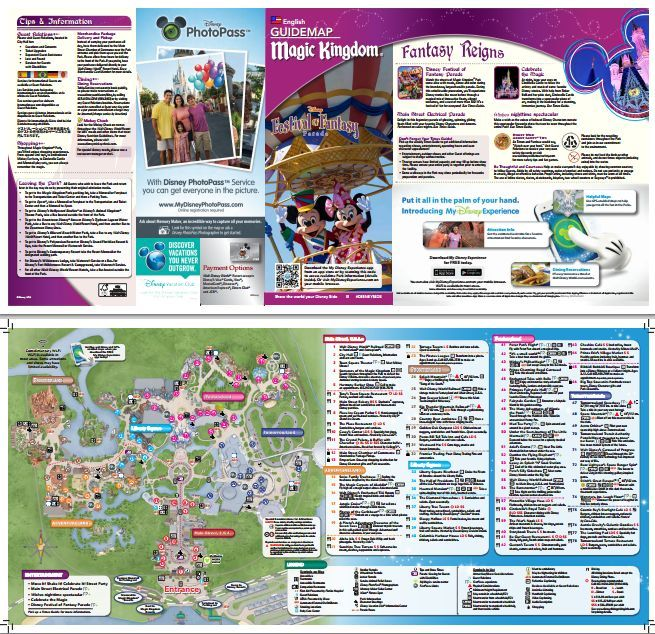 Magic Kingdom park map - print/view at home before you get there ...