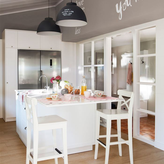 Tres cocinas blancas: un color, tres estilos distintos   Cocinas ...