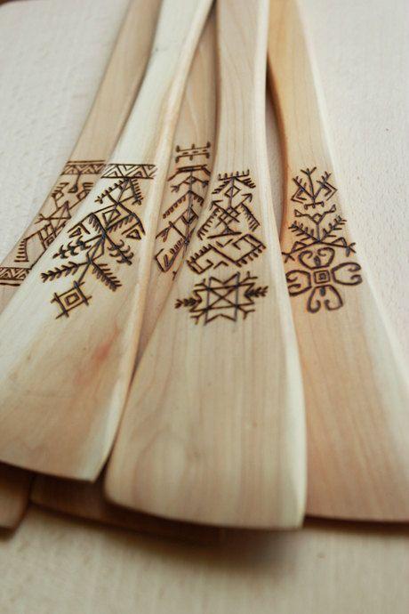 Holz verschönern