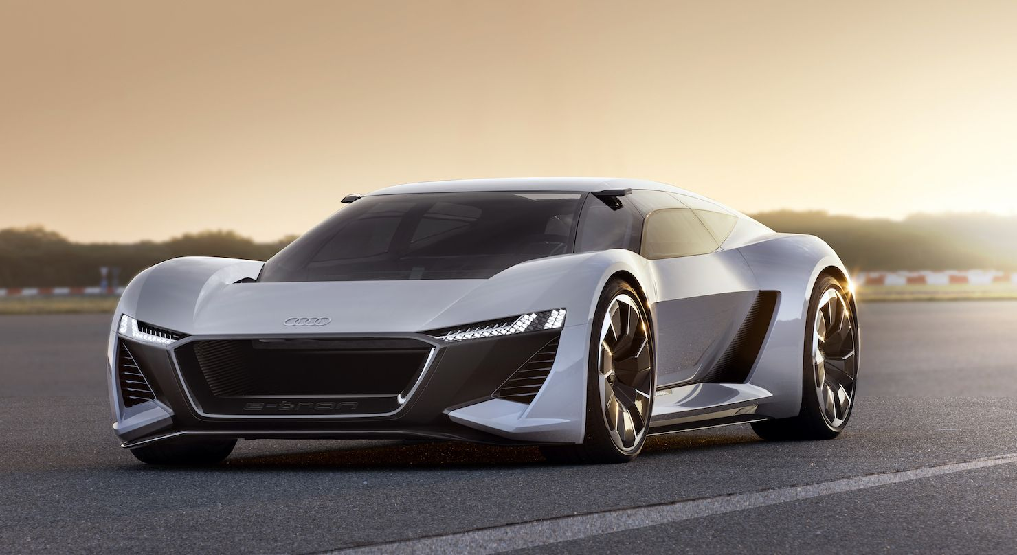0 To 62 Mph In 2 Secs With Looks That Rival A Stealth Fighter This Could Be Audi S Answer To The Tesla Roadster E Tron Concept Cars Audi E Tron