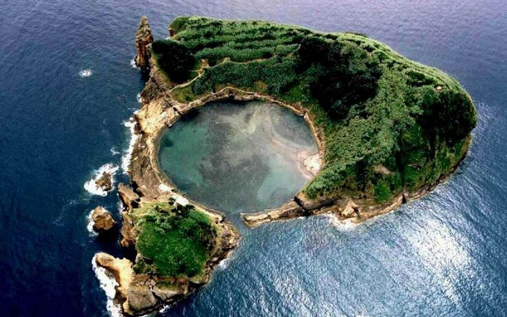 naturalsceneries:  Vila Franca's Islet, Azores Archipelago, Portugal  - How can that be so spherical?
