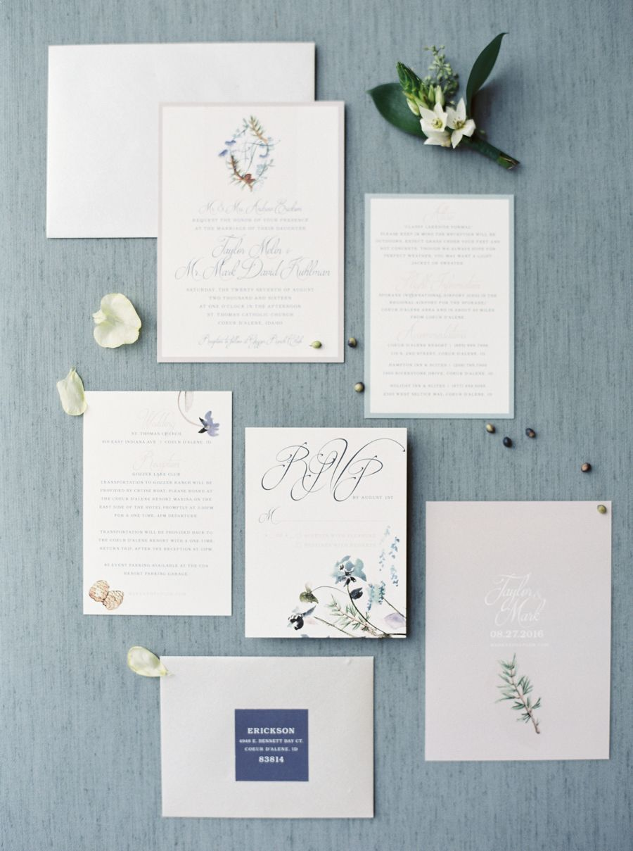 This Bride\'s Hair Is Everything | Navy wedding invitation suites ...