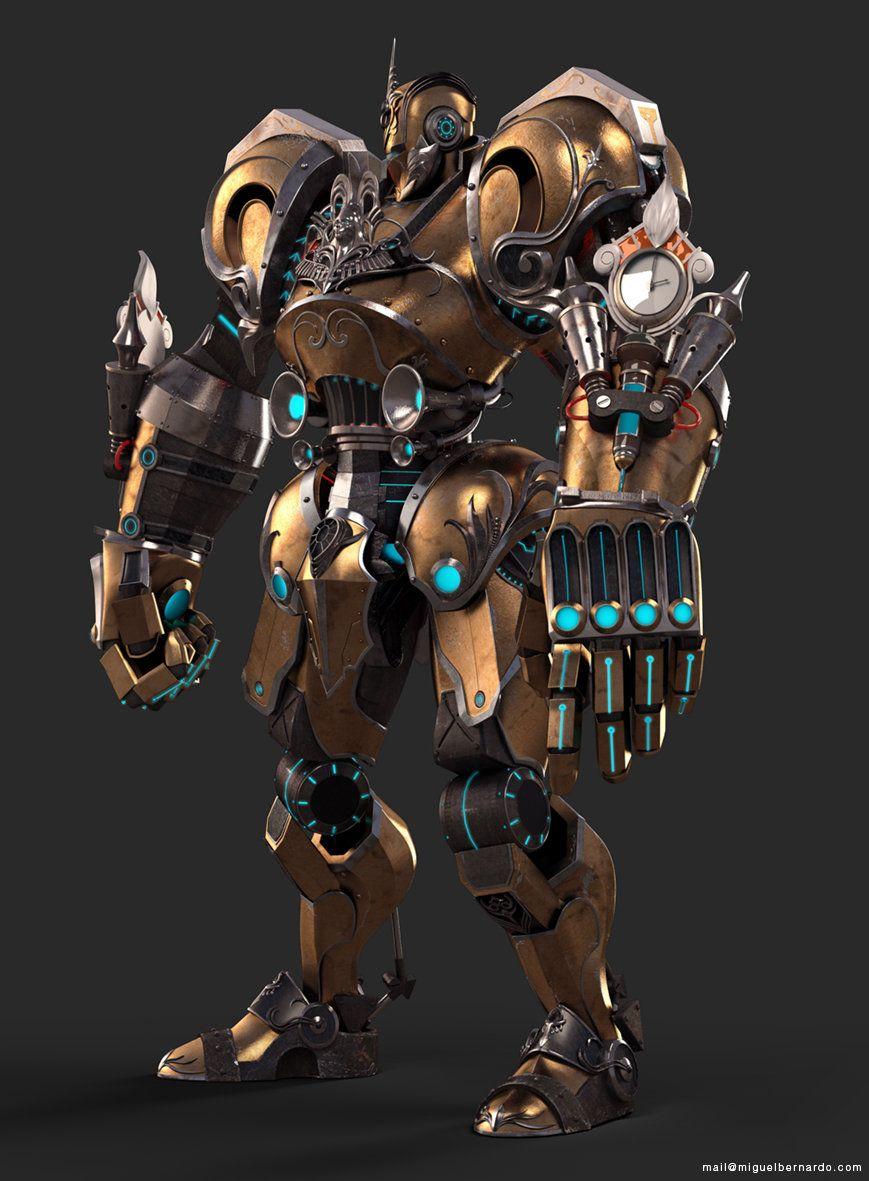 ArtStation - Steampunk Robot, Miguel Bernardo