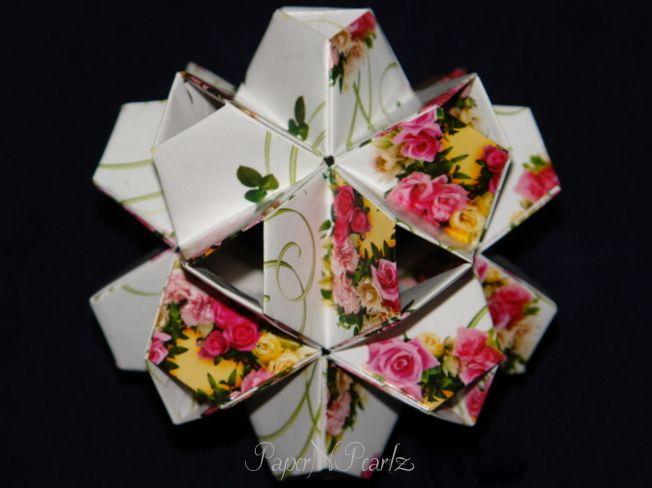 Tomoko Fuse's #origami little #turtle #kusudama   #modular #TomokoFuse #origamipaper #paperart #paperfolding #origamilove #handcrafted #papernpearlz #origamiart #origamiindia #DIY #japanese