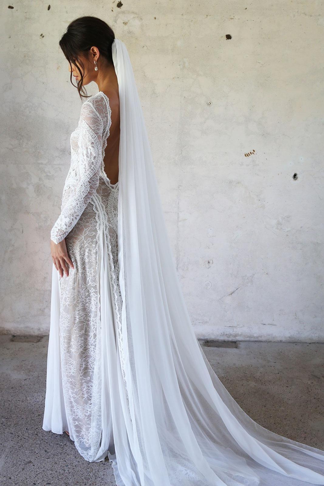 Gabriela Veil Silk Ivory Or White Veil Grace Loves Lace Wedding Dresses Bride Veil Grace Loves Lace [ 1600 x 1067 Pixel ]